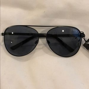 Quay Australia Black Aviator Sunglasses